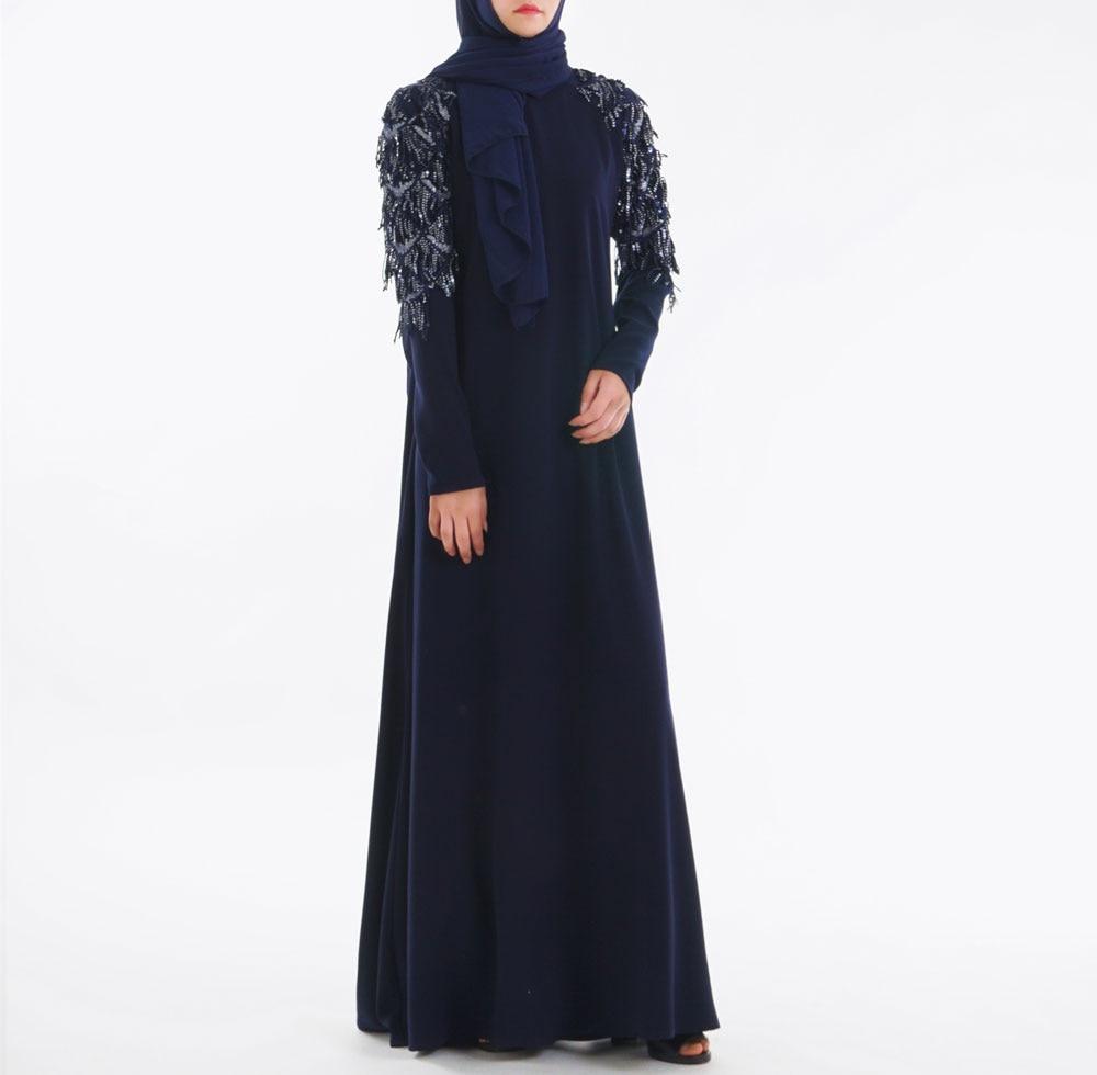 Mode Musulmane Robe abaya vêtements islamiques Paillettes