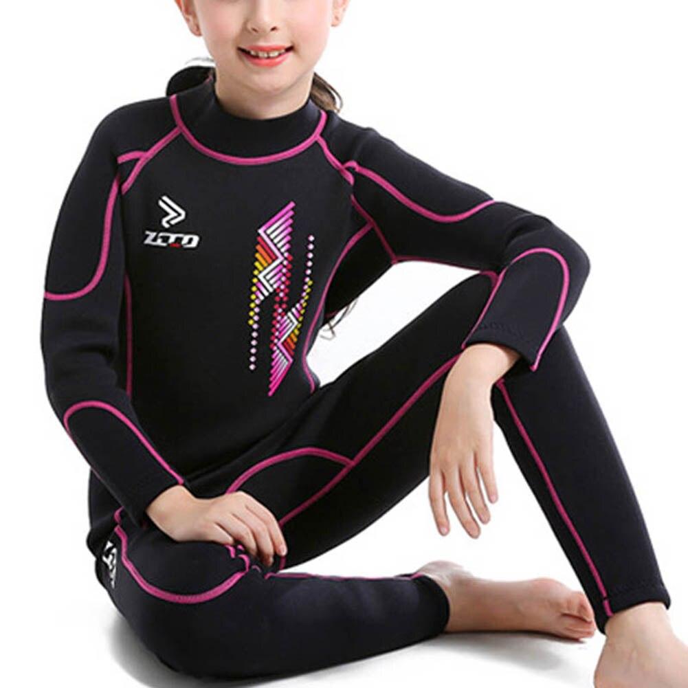 """Детские гидрокостюмы для мальчиков и девочек с надписью """"УФ-защита молния сзади Молодежный костюм для дайвинга из неопрена купальный костюм ASD88 - Цвет: Red"""