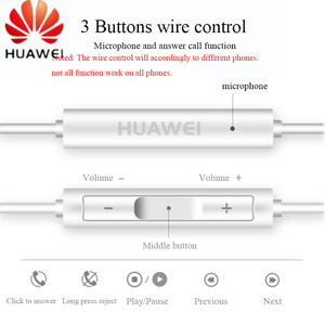 Image 3 - HUAWEI Earphone CM33 USB Type C In Ear wired mic Volume Control Headset for huawei Mate 10 Pro P20 Por P30 Pro