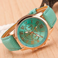 Women Watch 2016 New Fashion Rose Gold Roman Numerals Leather Quartz Watch Men Casual Business Wristwatch Relogio Feminino Clock