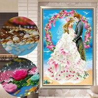 Diamond Embroidery,Wedding Love full rhinestone cross stitch 5D,Diamond Painting,3D,Diamond Mosaic,Needlework,Crafts,Christmas