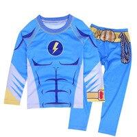5 8Y Kids Boy Superhero Hulk Spiderman Iron Man Pajamas Sleepwear Clothes Set Child Cartoon Pijamas