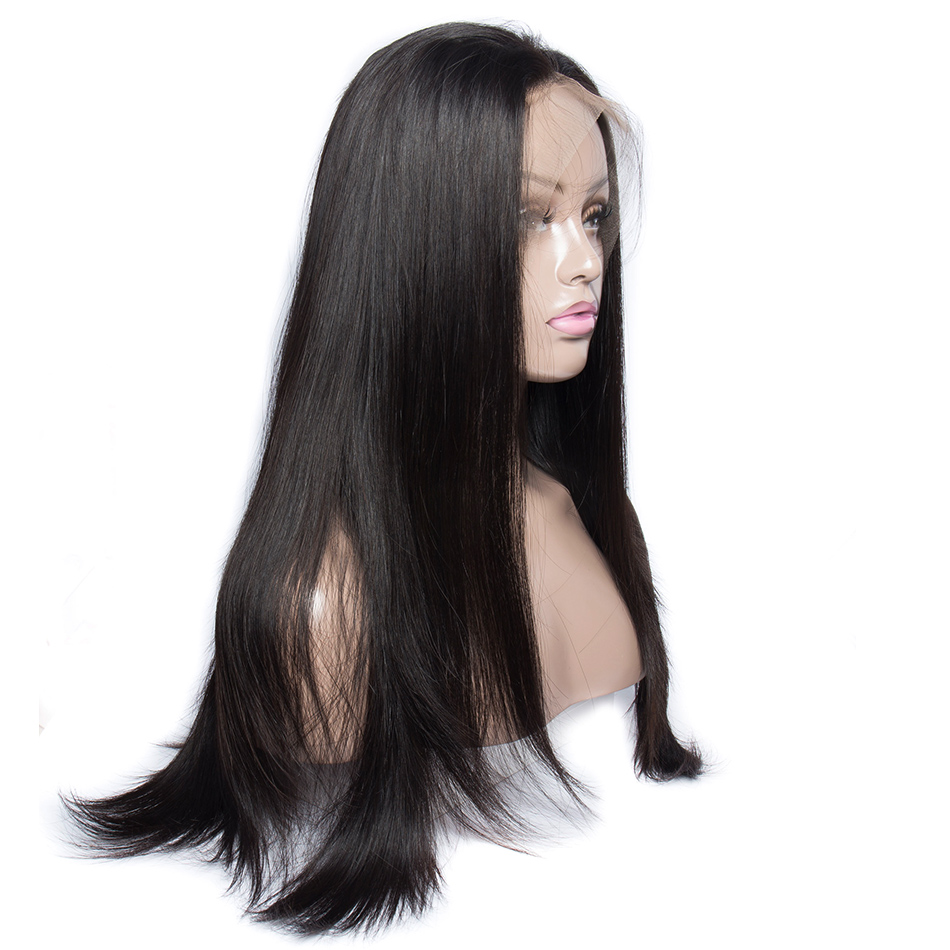Alibele Full Lace Human Hair Wigs Remy Human Hair Straight Wig 180 Glueless Full Lace Wig For Black Women Brazilian Straight Wig