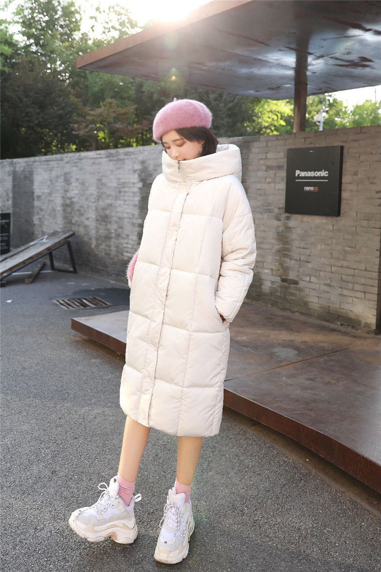 Jacket female large coat S long paragraph warm Parker hooded shirt Slim maternity winter jackets women winter coat new fashion elegant slim jackets hooded warm down cotton overcoat medium long large size jacket female ok278