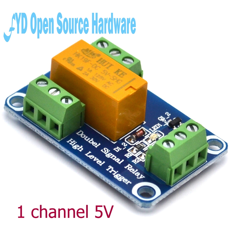 1 Channel Signal Relay Module 5v Double Trigger 1a High Current Level In Integrated Circuits From Electronic Components Supplies On