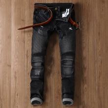 Fashion Full Length Nightclub Skinny Jeans Men Brand Designer Ripped Denim Pants Luxury Casual Trousers Male
