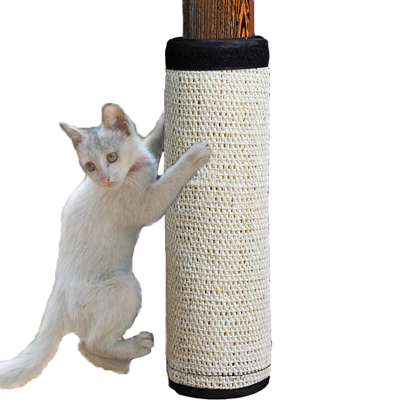 natural sisal hemp cat scratching post protecting furniture grinding claws cat scratcher toy. Black Bedroom Furniture Sets. Home Design Ideas