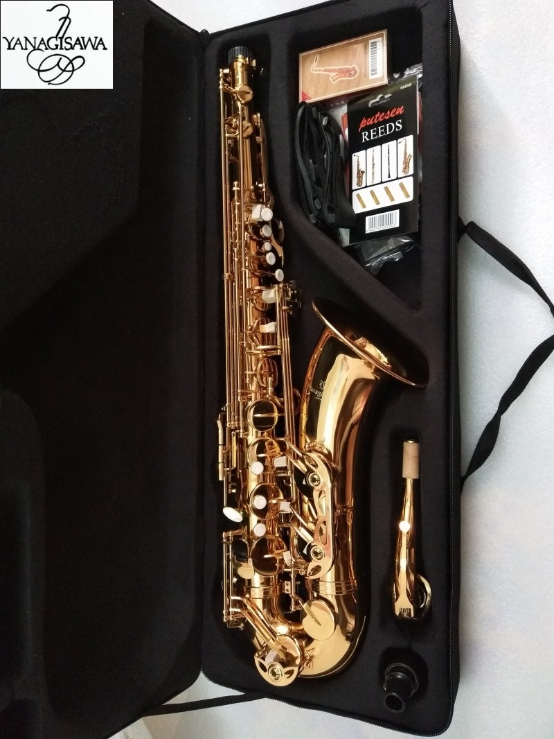 New Japanese Yanagisawa T-902 Tenor Saxophone B flat Lacquered gold musical instrument Tenor saxophone professional With case