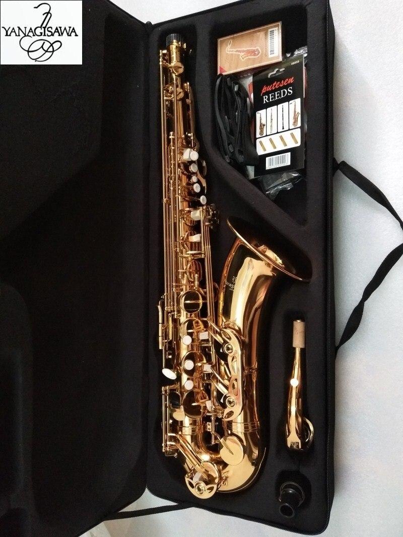 Novo Japonês T-902 Yanagisawa Saxofone Tenor B plana Lacado de ouro instrumento musical profissional saxofone Tenor Com caso