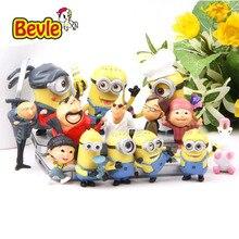 Bevle Despicable Me 14pcs/lot Funny Minions Family PVC Action Figure Model Kit Toy Doll Decoration