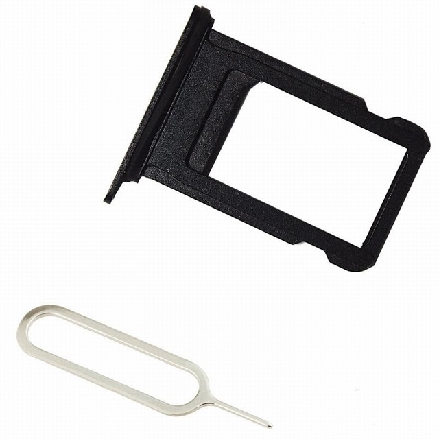 classic fit afbe1 64b4e US $1.11 44% OFF|Ascromy SIM Card Holder Slot Tray Replacement for iPhone 7  Plus 5.5 inch 7plus iPhone7Plus Adapter Tool Repair Part Accessories-in ...