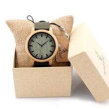 BOBO de AVES D11 Nueva Llegada Reloj Para Mujer Para Hombre Relojes de Diseño de Lujo De Madera De Bambú de Madera Del Reloj en Caja Redonda De Bambú