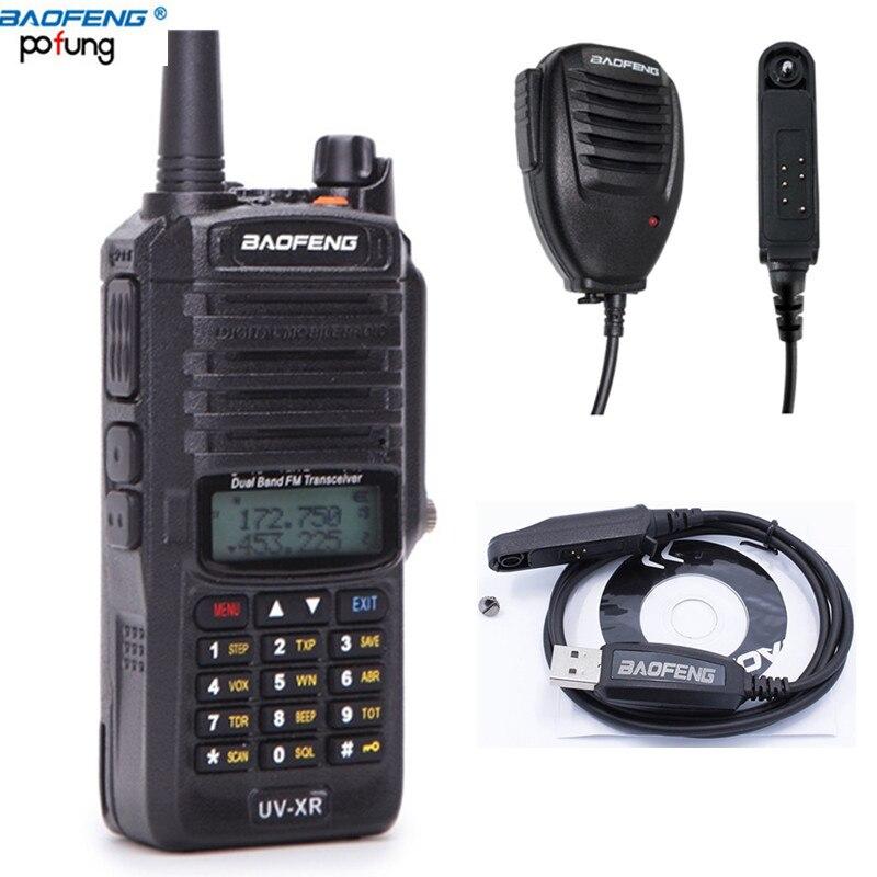 imágenes para UV-XR 10 W Potencia IP67 A Prueba de Agua Walkie Talkie Baofeng Doble Banda Jamón Radio de Dos vías + Cable de Programación y CD + Mic Altavoz Impermeable