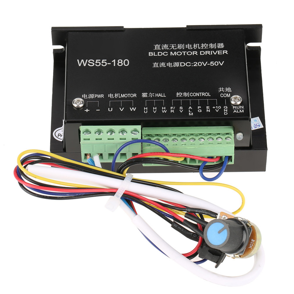 Ws55 180 Dc Motor Driver 20v 50v Cnc Brushless Spindle Bldc Machine Wiring Schematic Controller In From Home Improvement On Alibaba