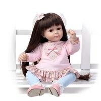 2016 NOVO design menina boneca Reborn criança Adora doce baby doll Birhtday Brinquedos de Presente para Meninas longa peruca