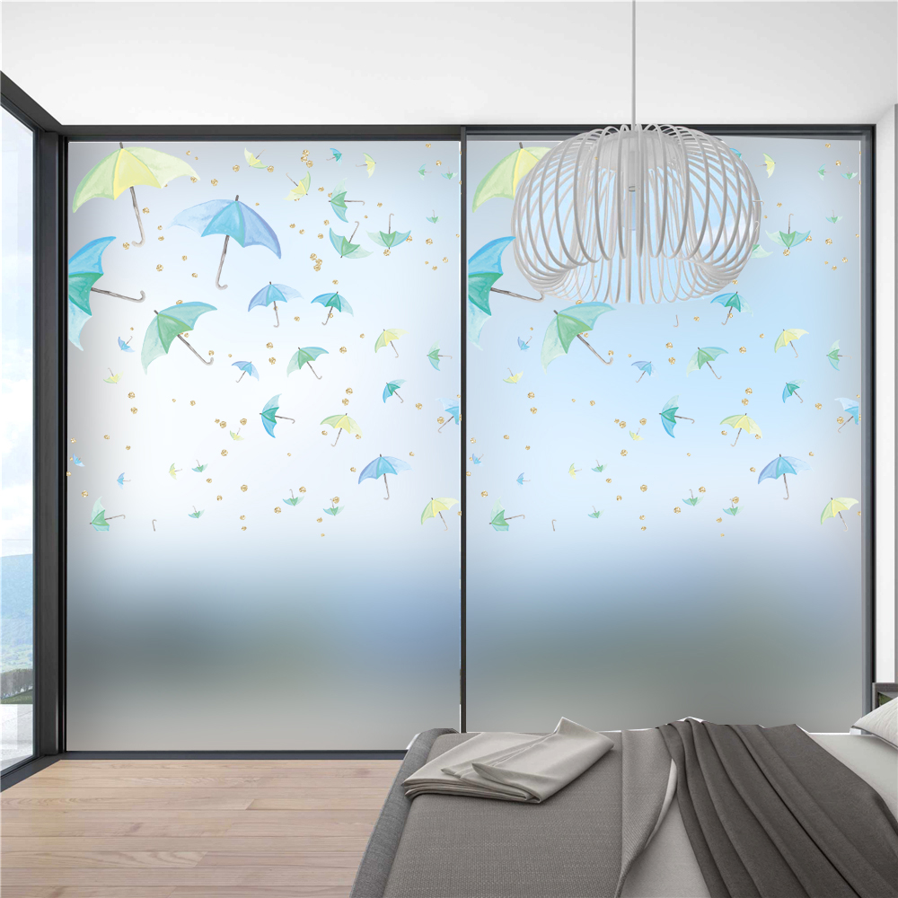 Ocean Fish Removable Stickers Window Film Privacy Glass Self Adhesive  Bathroom Office Wall Decor Frosted Window Film AA52 In Wall Stickers From  Home ...
