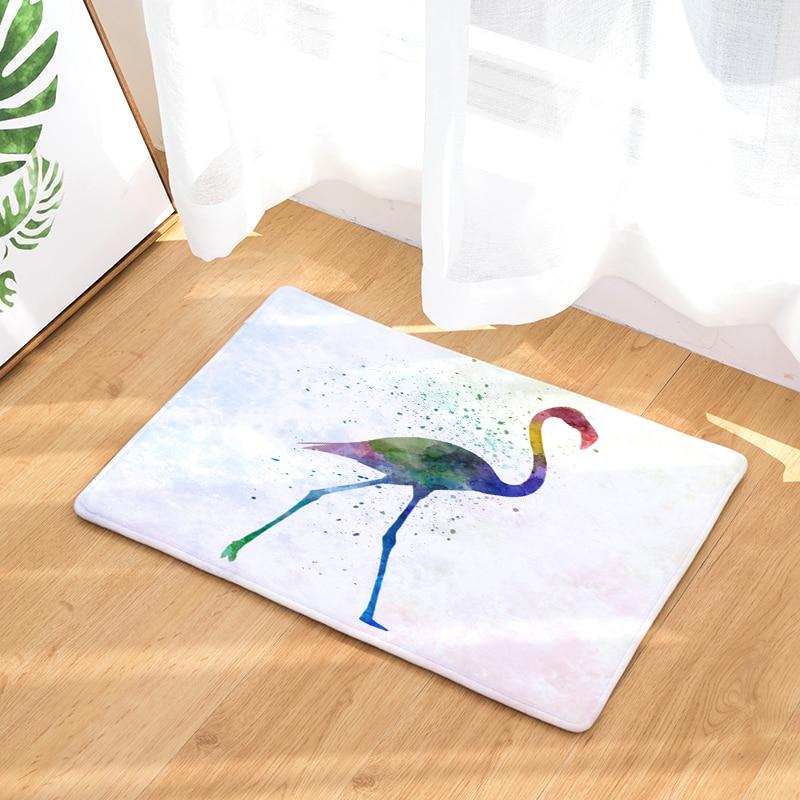New Anti- Slip Welcome Floor Mats Flamingo Hallway Kitchen Rug Decoration Stair Carpets Light Thin Crafts Rugs