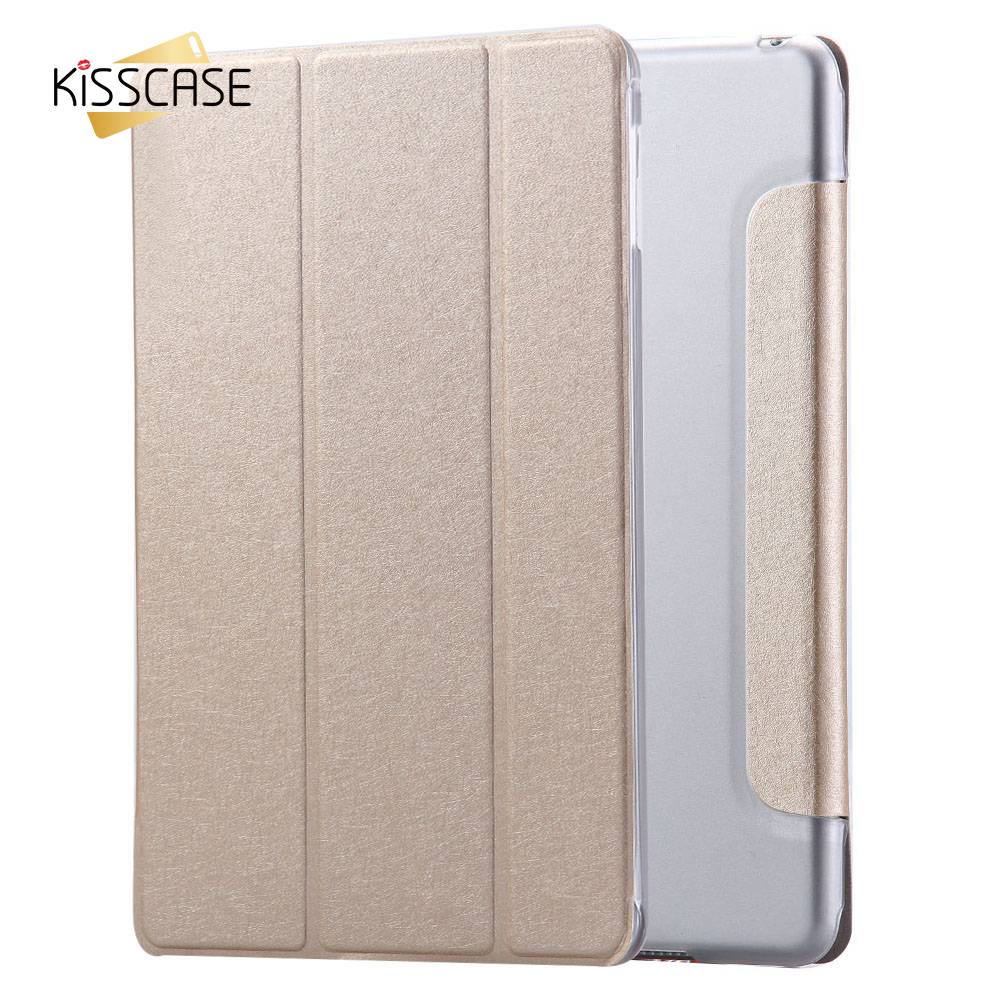 KISSCASE 7.9 Inch Silk Leather Case for iPad mini 4 Smooth Soft Touch Clear Flip Cover for ipad mini4 Tablets