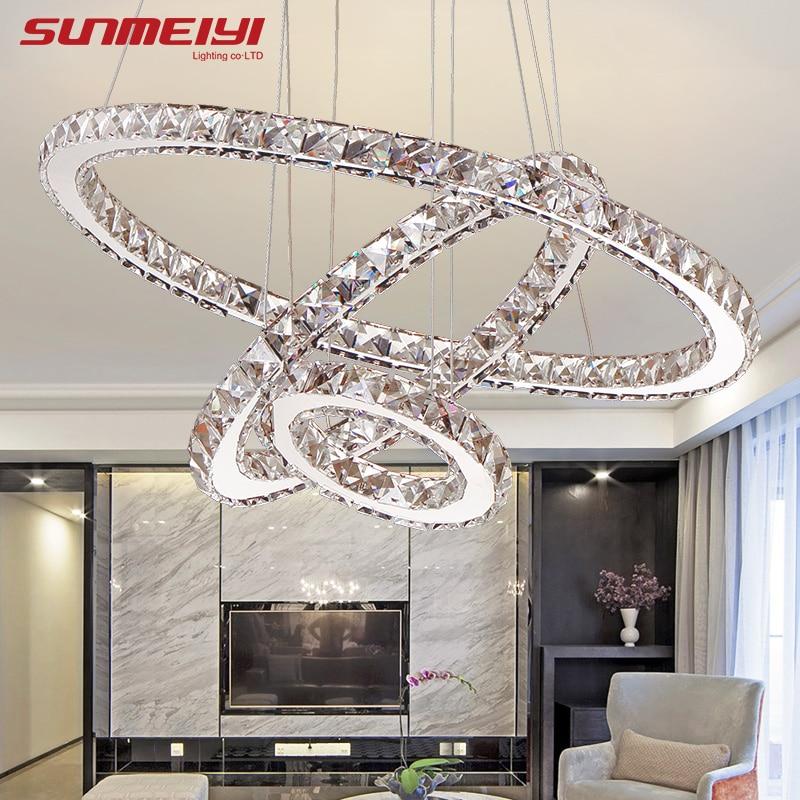 Современные светодиодный хрустальная люстра свет лампы для Гостиная Cristal Lustre освещение люстры подвесные потолки подвесные светильники