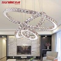 Modern LED Crystal Chandelier Lights Lamp For Living Room Cristal Lustre Lighting Pendant Hanging Ceiling Fixtures