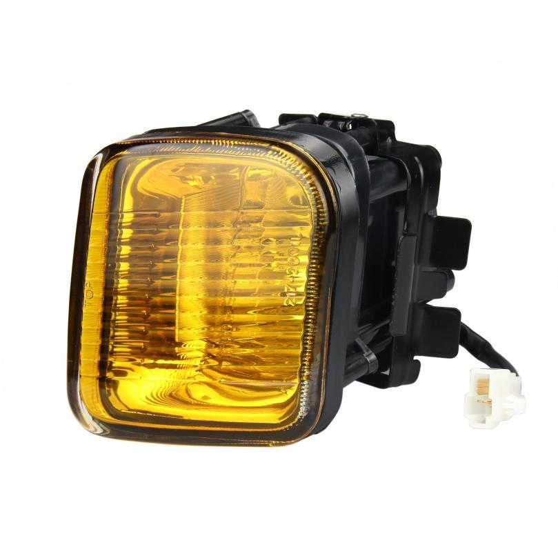 For 1996 1998 Honda Civic EK JDM Yellow Fog Lights Front Bumper Lamps FULL KIT SET@31027