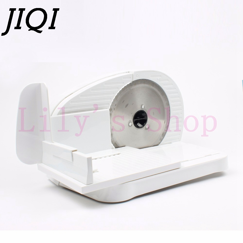 JIQI Mini Electric Meat Slicer Electric Automatic Frozen Mutton Rolls Meat Grinder Mincer Beef Lamb Vegetable Toast Bread Cutter