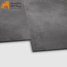 SPC lock flooring Dark grey imitation marble texture formaldehyde-free, wear-resistant, waterproof and skidproof home commercial