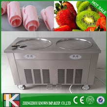 commercial thailand flat pan rolled fried ice cream machine with environmental R410a