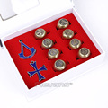 Assassin's Creed Цифры Металла Модель Игрушки Assassins Creed Подвески Кольца 10 шт./компл. 3 Цветов