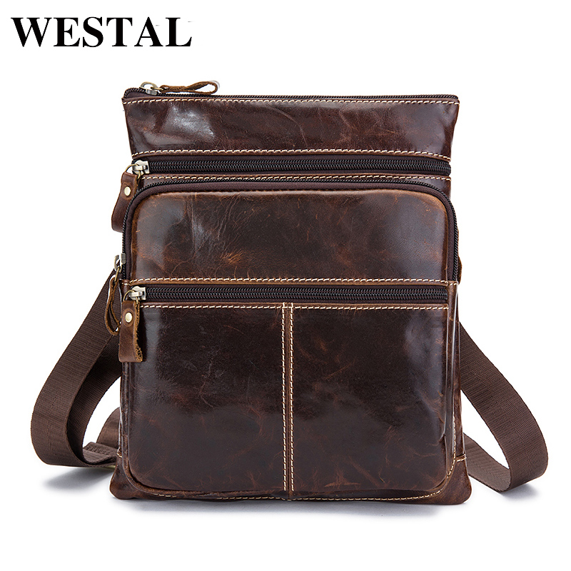 WESTAL Genuine Leather Bag Small Male Bag Phone Pouch Flap Vintage Crossbody Bags for Men Messenger Men Leather Shoulder Bags neweekend genuine leather bag men bags shoulder crossbody bags messenger small flap casual handbags male leather bag new 5867