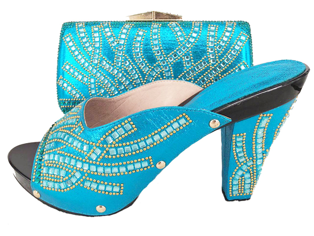 Italian turquoise blue shoes and bag for your newest lace fabric dress clutches  bag and matching shoes BCSB0016 free shipping 4203aaded63b