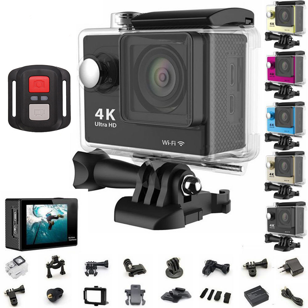 Sport action video camera 4K wifi Ultra HD 1080p 60fps 170D Go waterproof mini cam pro sports camera gopro hero 4 style add camera bag and two battery sport action camera 1080p hd 12mp sj4000 wifi extre sports camara gopro hero 3 go pro 4 cam style