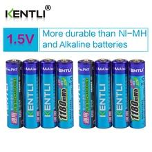 Kentli 8 шт. без эффекта памяти 1.5 В 1180mwh AAA полимерный литий-ионная аккумуляторные батареи ААА батареи