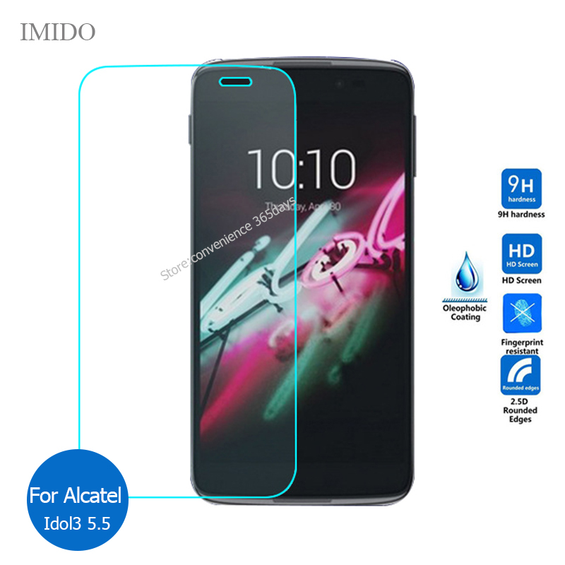 Safety Film Tempered Glass Screen Protector on Alcatel One Touch Idol 3 5.5 Idol2 mini 2 s L idol3 4.7