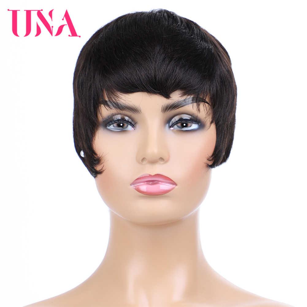 Перуанские прямые человеческие волосы парики Remy машина человеческие парики 6 дюймов длинный цвет #1 # 1B #2 #4 #27 #30 #33 # 99J # ошибка #350 #2/33