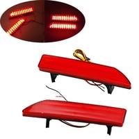 Car Styling 2pcs Tail Trunk LED Rear Bumper Reflector Light Red Lens Lamp Brake Lights For