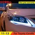 KOWELL Auto Styling für Toyota Corolla Scheinwerfer 2011 2013 Altis LED scheinwerfer DRL Bi Xenon Objektiv Hohe Abblendlicht Parkplatz Nebel lampe