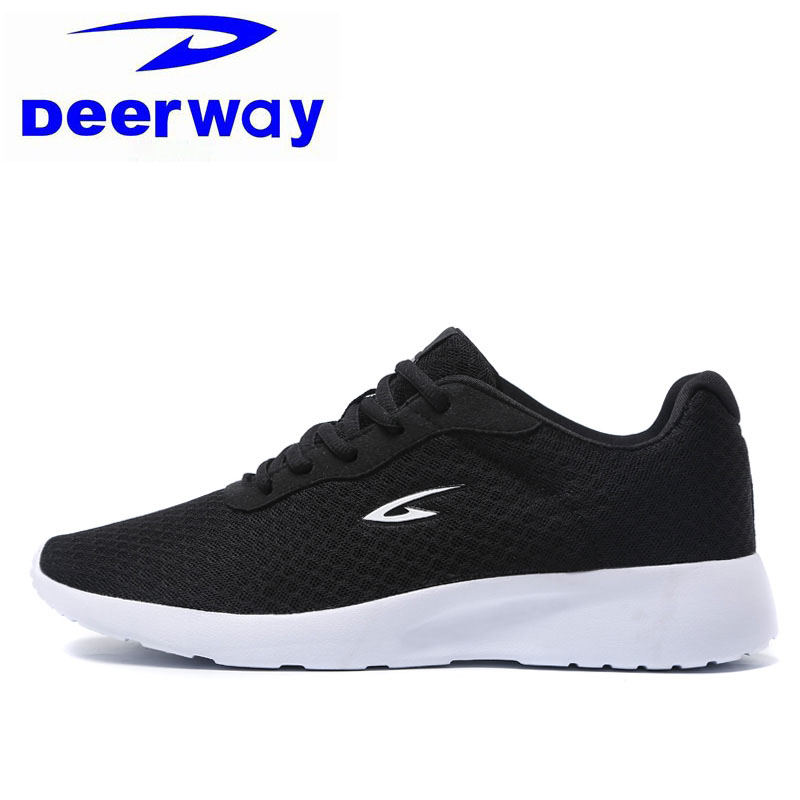 Deerway Outdoor Running Shoes For Women Super Light Air Mesh Breathable Female Sneakers Sport Travel Black Shoes Free Shipping 2016 hot mesh breathable women running shoes comfortable platform sport shoes sneakers outdoor movement female chaussures femme