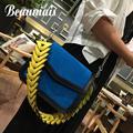 Beaumais 2017 Nuevas Mujeres Bolsos de Cuero de La Pu Mujeres de Cuero Messenger Bags Marca Crossbody Del Hombro Del Bolso de Señora Clutch DB5778