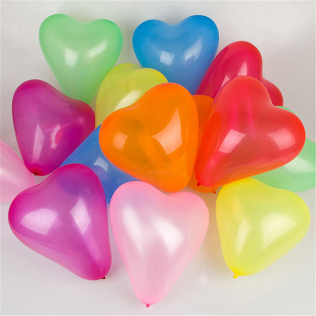 10Pc Red Pink Balloons 10Inch Love Heart Latex Balloons Wedding Helium Balloon Valentines Day Birthday Party Inflatable Balloons 2