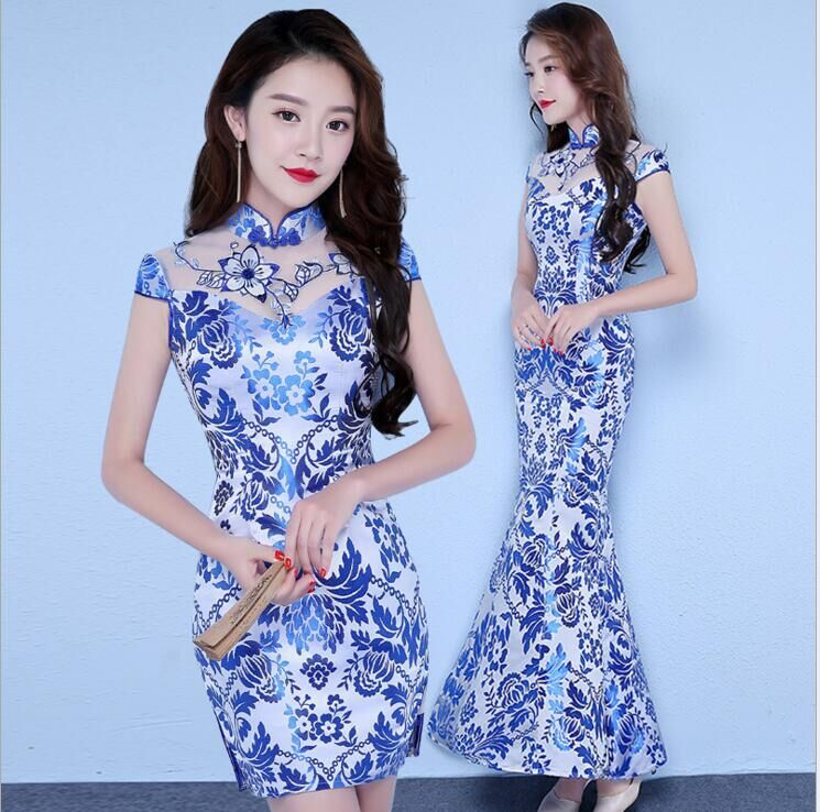 Vintage Chinese Style Wedding Dress Retro Toast Clothing Long Gown Marriage Cheongsam Qipao Party Evening Dress Vestidos Clothes