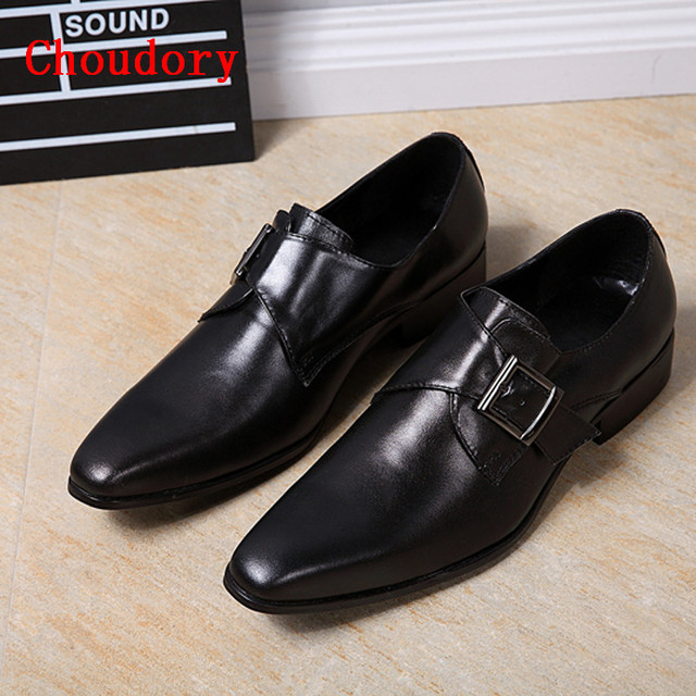 Mens Classic Italian Shoes Genuine Leather Mens Formal Shoes Black