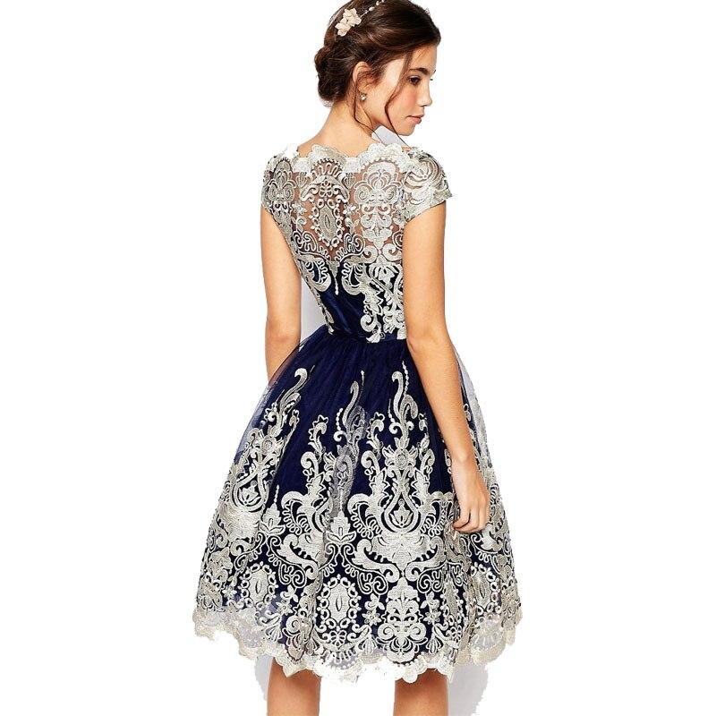 Sommer Kleid 2018 Frauen Vintage Stickerei Spitze Minikleid Luxus ...
