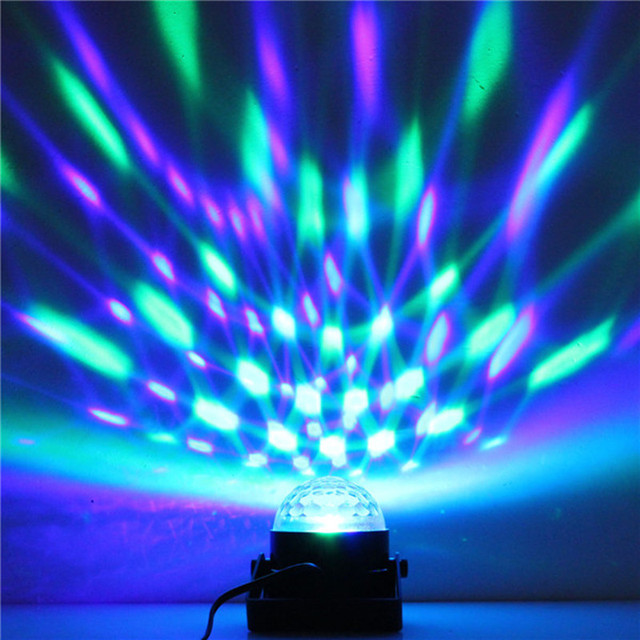 Led Disco Ball Party Lights Dj Stage Light 3w 240v 7 Colors Sound Activated