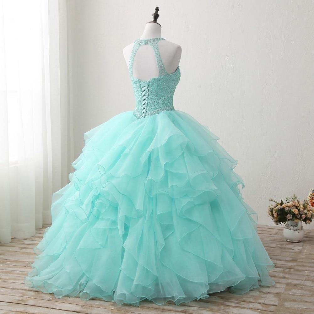 It\'s Yiiya Halter Backless Illusion Wedding Dress Ball Gown Beading ...