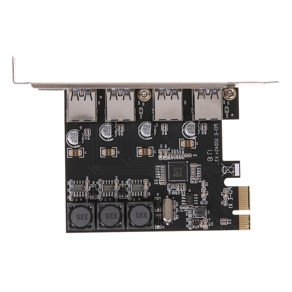 USB3.0 Erweiterungskarte 4 Ports 5 Gbps Superspeed USB 3.0 PCI Express 3.0-controller-karte adapter Suppot für Windows XP32/64/7/8/10