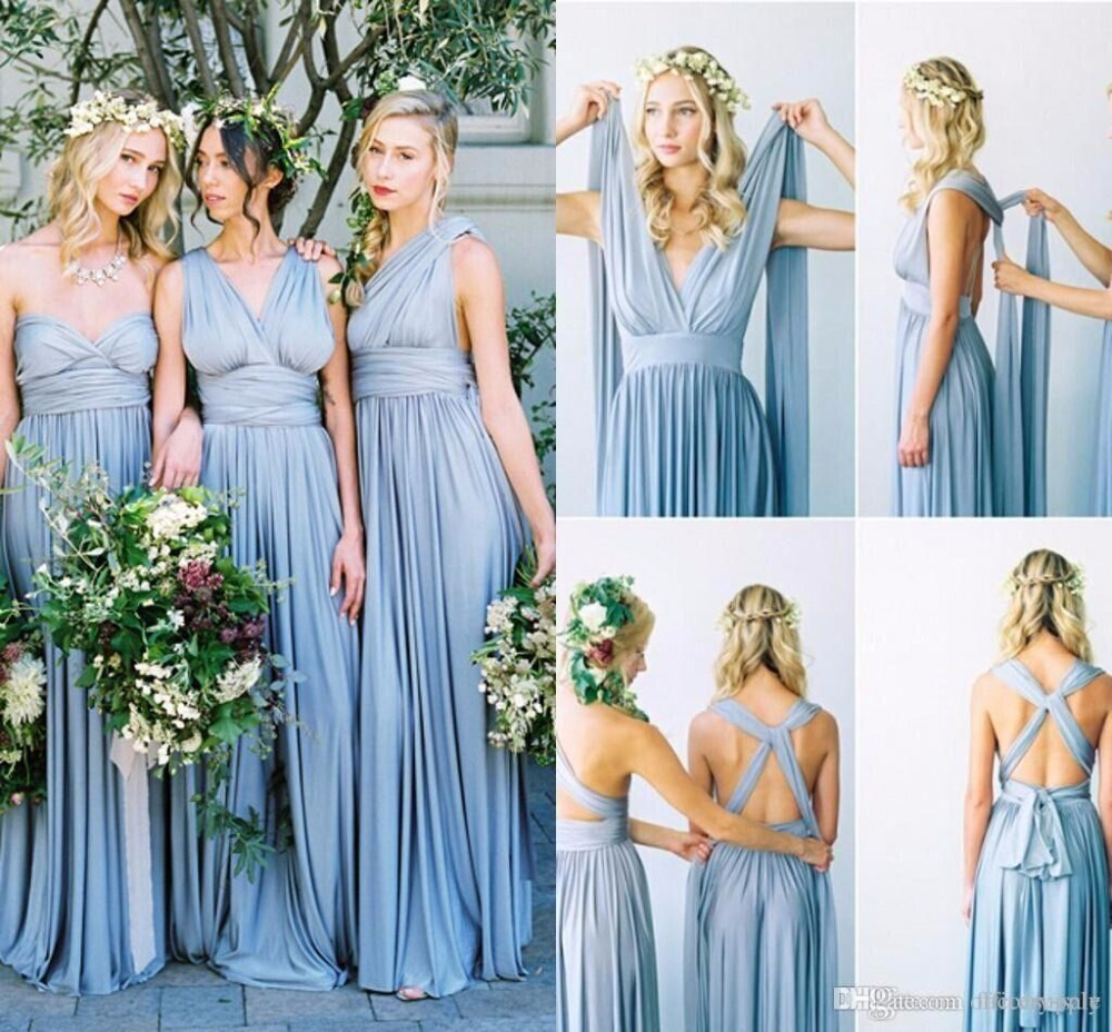 Aliexpress buy 2017 new arrival chiffon long bridesmaid aliexpress buy 2017 new arrival chiffon long bridesmaid dresses convertible versa dress formal party gowns cheap plus size custom made from reliable ombrellifo Image collections