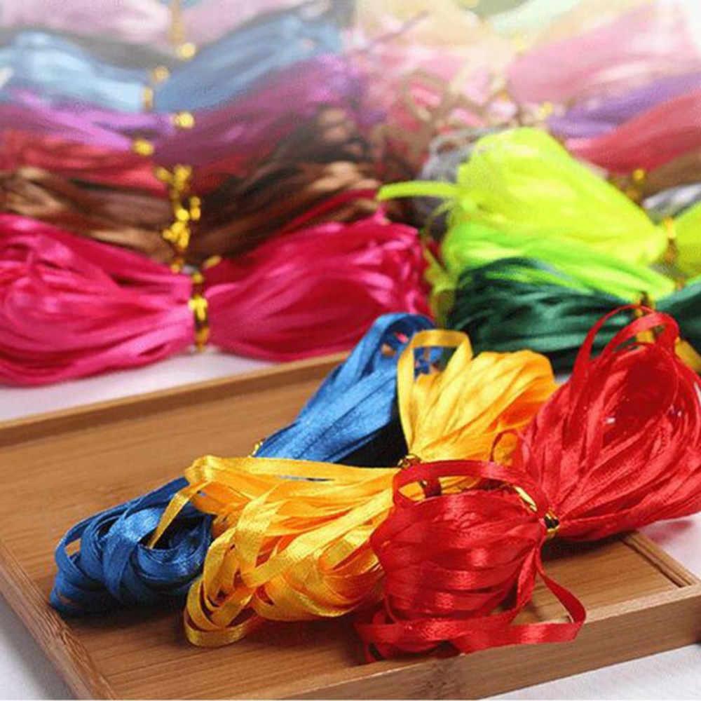 """11 yardas 10 metros 3mm 1/8 """"cinta de seda de satén boda Navidad Fiesta cabello DIY equipo de decoración novia regalo envoltura cinta de embalaje"""