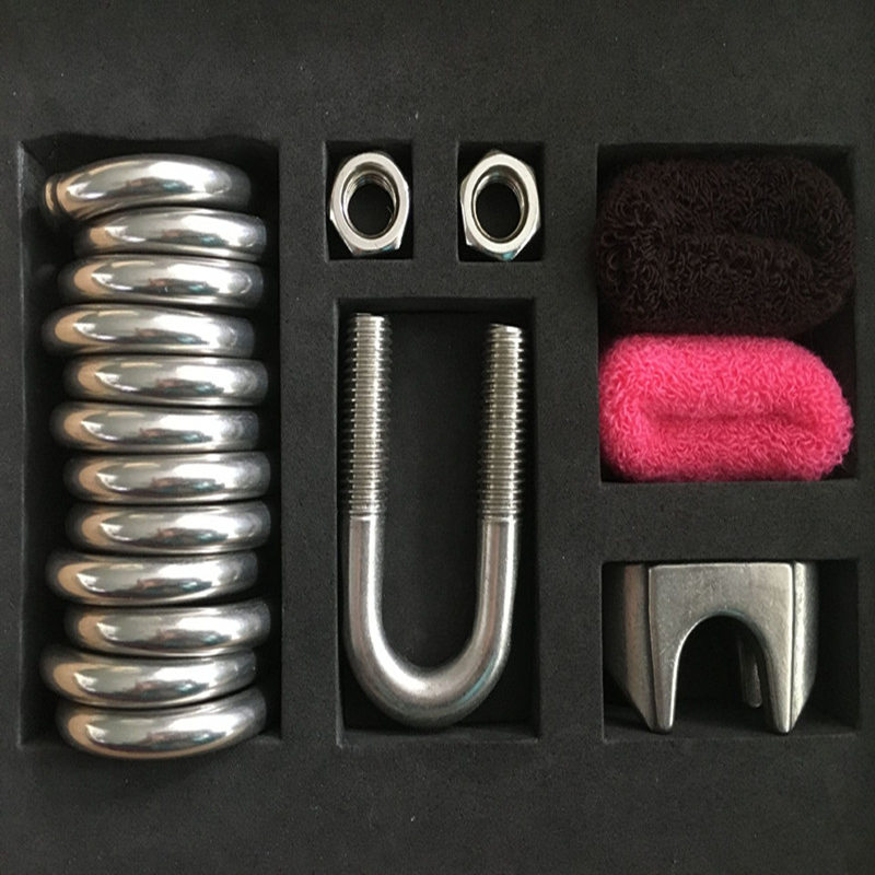 12 in 1 Top Stainless Steel Penis Bondage Ring Restraint Scrotum Pendant Testicle Cock Ring Ball StretchersSex Toy for Men B2-86 cock rings scrotum ring stainless steel ball stretcher cockring adult sex toys for men scrotum bondage locking penis ring