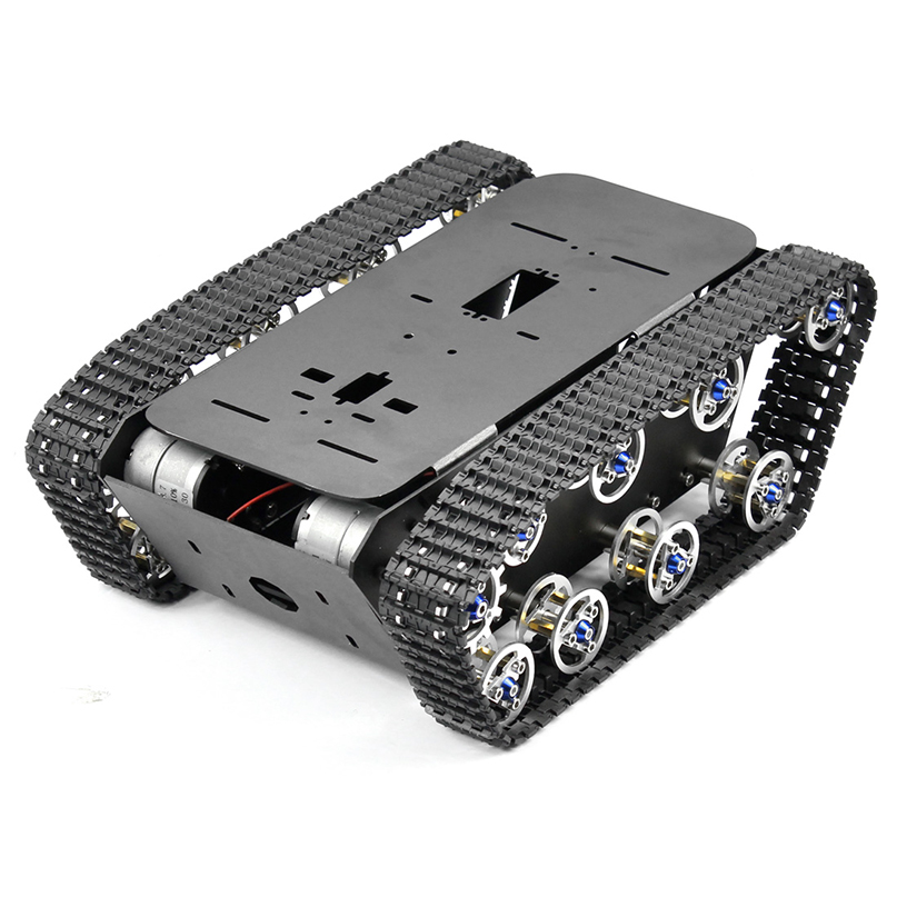 feichao Smart Robot Aluminum Alloy Car Tank Chassis Kit Big Platform with Motors for DIY Remote Control Robot Car Toys remote control robot tank toys rc robot chassis kit with servo ps2 mearm rc toys gift